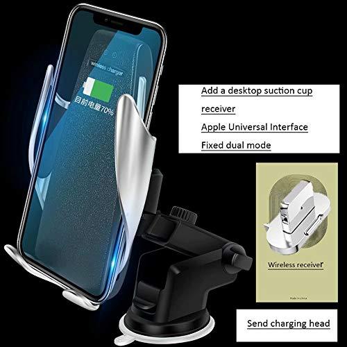 DFGB-CZSJZ Clip mágico soporte para teléfono para coche cargador inalámbrico para coche cargador de coche de navegación por inducción automático inteligente - Inalambrico De Cargador Telefono