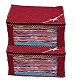 #9: Kuber Industries™ 3 Layered Quilted Multi Saree Cover Set Of 2 Pcs (10-15 Sarees Capacity)