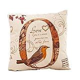 Kissenbezug,Hansee® Baumwoll Leinen LOVE Bird gedruckt Halloween Kissenbezug Fall Sofa Bed Home Dekor (O)