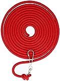 com-four® Schwungseil mit Karabinerhaken, Springseil mit Drehwirbelhaken, Hüpfseil