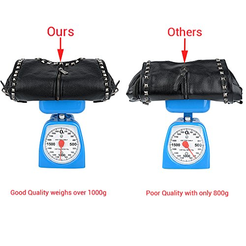 UTO Damen Handtasche PU Leder Backpack Purse Rivet Studded PU Schultertasche - 7