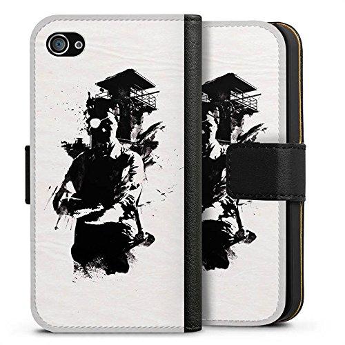 Apple iPhone X Silikon Hülle Case Schutzhülle Silhouette Wachturm Street Art Sideflip Tasche schwarz
