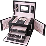 Rowling Jewellery Box Storage Case Beads Watch Case Gift Box Faux Leather ZG165