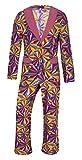 Schlager Outfit Kostüm Herren 70er Jahre Anzug Partyanzug (X-Large)