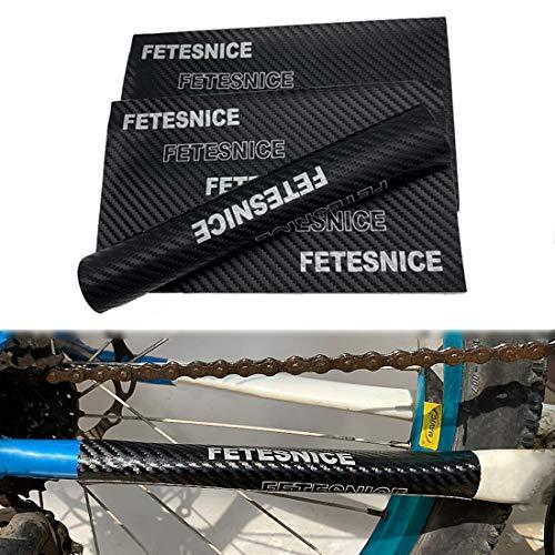 FETESNICE 3pcs Bike Kettenstrebenschutz, Fahrrad Kettenstreben Aufkleber Aufkleber, Fahrradrahmen Tape Guard für Mountainbike, Rennrad, Faltrad
