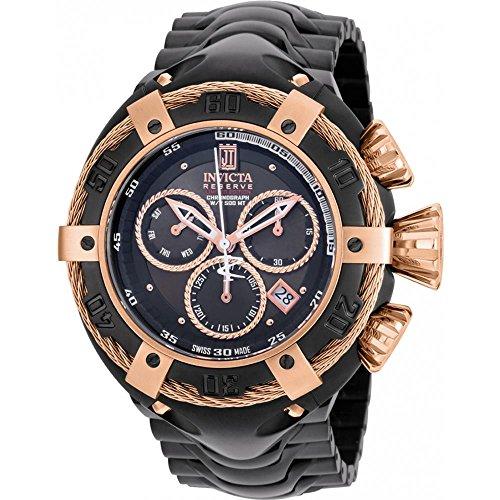 Invicta Men's Jason Taylor 52mm IP Steel Bracelet & Case Quartz Watch 22175