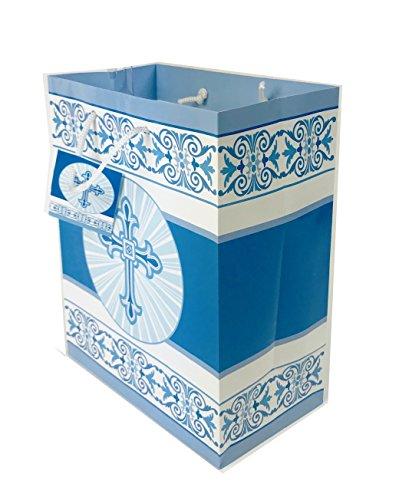 Erste Geschenk zur 1. Kommunion Bag Medium Luxus Wrap Blau Jungen Religiöse Tag ihn (Geschenke Jungen-erste Kommunion Für)
