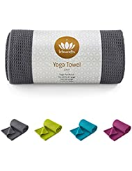 Lotuscrafts Yogahandtuch - Wet Grip - hohe Bodenhaftung (Silikonbeschichtung) - 183 x 61 cm - ideal für Hot Yoga, Ashtanga - hautfreundlich und saugfähig