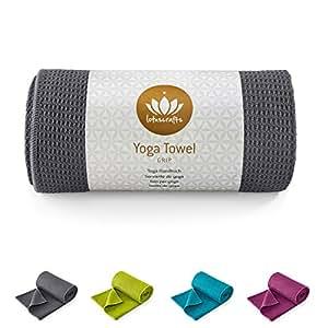 Lotuscrafts - Serviette de yoga GRIP - antidérapant - de qualité supérieure - ultra absorbant - pour Yoga, Pilates, tapis de yoga