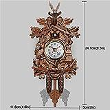 FONKIC 3D Mini Pendule à Coucou Créatif Bois Pendules Murales Accueil Art Créative Décoration Rétro Horloge Murale de Bricolage,301