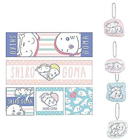 The most lottery SHIRO GOMA E Award towel all five + G Award cleaner mascot all four set