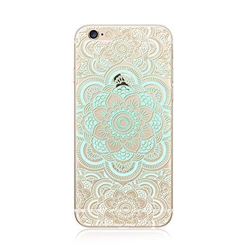 Coque iPhone 7 Housse étui-Case Transparent Liquid Crystal en TPU Silicone Clair,Protection Ultra Mince Premium,Coque Prime pour iPhone 7-Mandala-New-style 19 7
