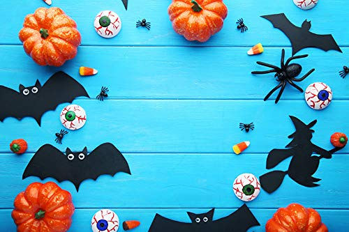 Halloween Fotografie Kulissen Black Night Jackolantern Kürbis Haunted Building Horror Foto Hintergrund Studio Prop Halloween Party Fotoshooting Booth Spooky Masquerade Decor 3x5FT