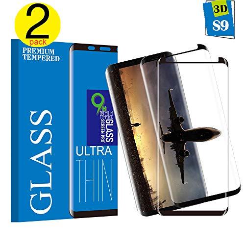 KUTUKU Samsung Galaxy S9 Panzerglas Schutzfolie, Hochwertiger 3D temperierter Film [2 Stück] [9H Härte] [Bubble-frei] [Ultra Klar] [Anti Kratzen] Displayschutzfolie für Samsung Galaxy S9