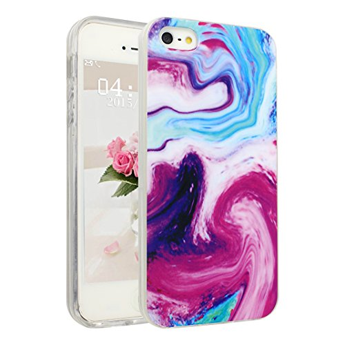 Handyhülle iPhone 6 Marmor, Asnlove Silkon iPhone 6S Marble Hülle Silicone TPU mit IMD Schale Case Cover Tasche Schutzhülle für Apple iPhone 6 6s 4.7 Inch, Rose Color-5