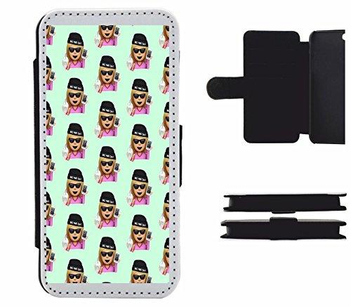 """Leder Flip Case Apple IPhone 6 plus/ 6S plus """"Bad Hair Day Mütze im Coolen läässigen und gechillten Design"""", der wohl schönste Smartphone Schutz aller Zeiten."""