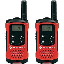 Motorola TLKR T40 PMR Radio avec écran à Cristaux Liquides, Lot de 2, Rouge