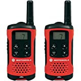 Motorola TLKR T40 PMR radio with LC display, 2-pack, red