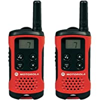 Motorola Talker T40 2 Way Walkie Talkie Radio - Black/Red (Pack of 2)
