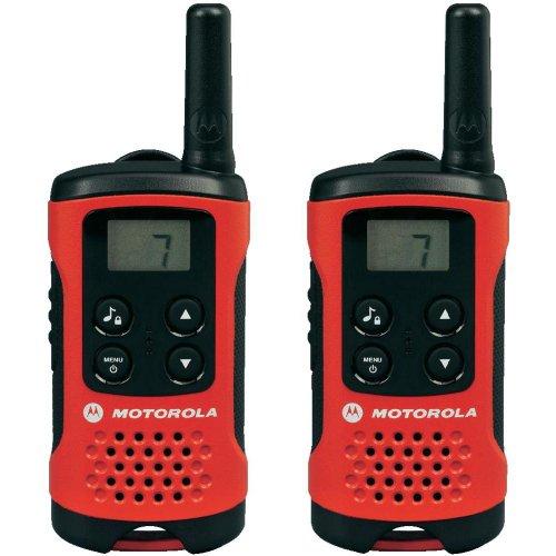 funkgeraete mit headset Motorola TLKR T40 PMR Funkgerät mit LC-Display rot