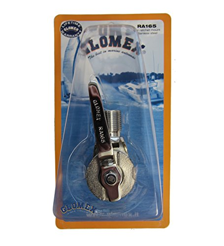 Edelstahl Relingshalterung Glomex RA165 flexibler Relingshalter RA-165 für Marine GPS Empfänger & Antennen für Relings-Rohrdurchmesser von 22 - 25mm (flexibel) - Halterung für 1