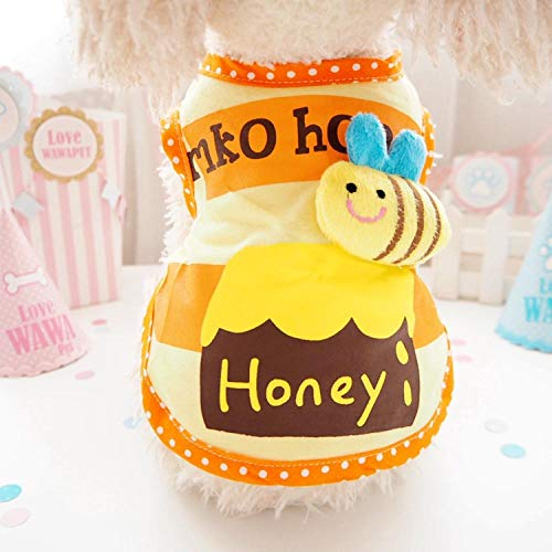 L Pet supplies Honig Honig Topf Haustier Hund Kleidung Herbst Abschnitt VIP Teddy kleine Hundebekleidung Welpen dünne Weste @ Orange_L (Siehe Größentabelle) (Honig Topf Kostüm)