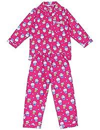 Pijama de Franela con Estampado de Muffins.