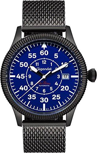 Gigandet Red Baron I Automatic Men's Aviator Watch Analogue Wrist Watch Black Blue G8-012