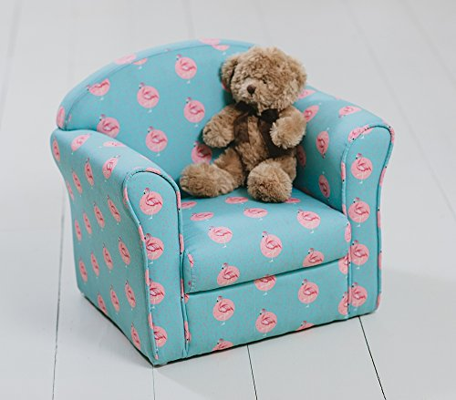 Other Children's Flamingo Armchair Blue Green Turquoise Bird Pink Seating Chair Kids