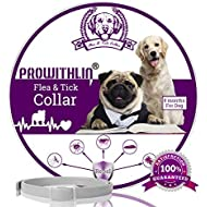 prowithlin Flea and Tick Collar for Dogs, Adjustable Waterproof Anti Flea and Tick Dogs Collar, A Natural Disease Prevention Solution for Your Dogs, 25'' 8 Months One Size Fits All (1 pack)