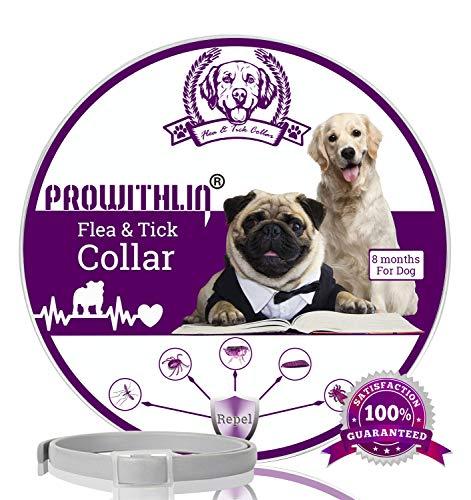 prowithlin Collar Antiparasitario para Perros contra Pulgas, Garrapatas Y Mosquitos, 8 Meses...