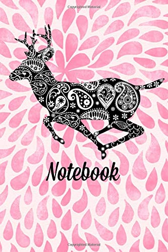 Notebook: Deer Floral Homework Book Notepad Notebook Composition and Journal Diary