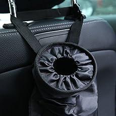 galaksy Black : AU Car Seat Back Trash Holder Hang Litter Bag Garbage Storage Rubbish Container Car Waste Bins Cleaning Tools
