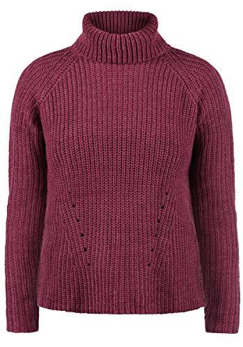 ONLY Romi Rollkragen Pullover Rolli Strickpullover Mit Rollkragen Oversized, Größe:S, Farbe:Red Plum