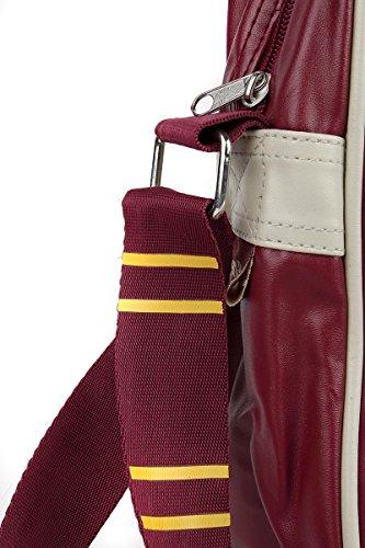 HARRY POTTER Borsa Tracolla STEMMA GRIFONDORO Quidditch MESSENGER BAG rosso