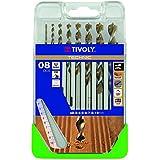 Tivoly G11–Pack de 8forets pour bois, Gama Technic (diamètre de 2, 3, 4, 5, 6, 7, 8, 10mm)