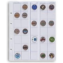 Leuchtturm 306013 hojas OPTIMA, para 35 monedas de hasta 27 mm Ø, transparentes