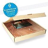 1 Salzstein (im fertigen Geschenkkarton) BBQ Salzplatte zum grillen (2.2kg) 20x20x2,5cm