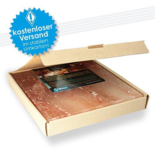 1 Salzstein (im fertigen Geschenkkarton) BBQ Salzplatte zum grillen (2.2kg) 20x20x2,5cm.
