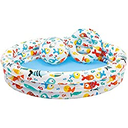 Intex - Set piscina, flotador y balón, 132 x 28 cm (59469)