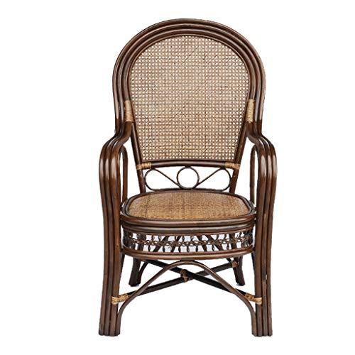 """HEUFHU888 Korbsessel - Klassischer Stuhl Handgewebter Freizeit-Korbsessel Cooler Sessel mit hoher Rückenlehne für das Büro zu Hause Sitz 18,5\"""" (Color : A)"""