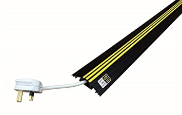 Safety Cable Cover   Floor Cable Protector (Black) 2m: Amazon.co.uk: Office  Products