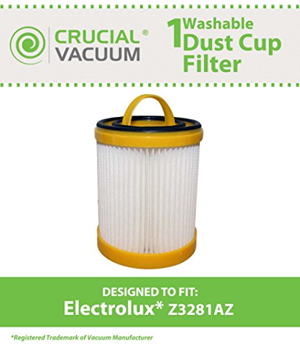 Electrolux Ef91b Washable Hepa Cartridge Vacuum Filter Fits Model Z3281az, Compare To Part # 9001660803, Designed & Engineered By Crucial Vacuum Picture