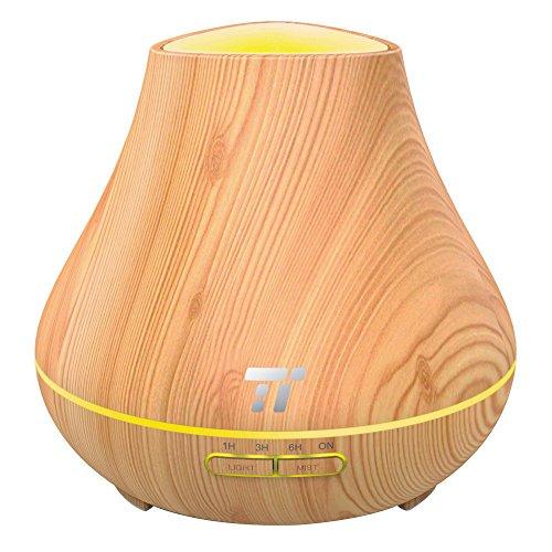 TaoTronics Aroma Diffuser 400ml Duftzerstäuber ätherisches Öl Diffusor Luftbefeuchter für Aromatherapie, Einstellbarer Nebelausstoß, 7 Farbstufen, Niedrigwasserschutz