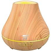 TaoTronics TT-AD004 DE, Aroma Diffuser TaoTronics 400ml Duftzerstäuber ätherisches Öl Diffusor Luftbefeuchter für Aromatherapie, einstellbarer Nebelausstoß, 7 Farbstufen, Niedrigwasserschutz