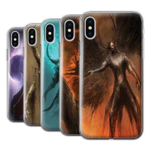Offiziell Chris Cold Hülle / Gel TPU Case für Apple iPhone X/10 / Geist/Ghul Muster / Dunkle Kunst Dämon Kollektion Pack 10pcs