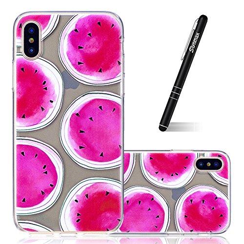 Slynmax Ultra Thin TPU Cover per iPhone X Custodia Silicone Caso Molle di Morbido Sottile Gel Transparent Bumper Case Protettiva Caso Chiaro Copertura Slim Thin Skin Shell Protezione per iPhone X Soft Modello #22