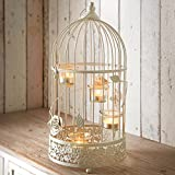 LARGE VINTAGE BIRDCAGE LANTERN WEDDING CENTREPIECE 4 TEALIGHT CANDLE HOLDER by LIAMRA