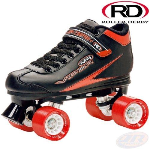 Roller Derby Viper M4schwarz rot Speed Quad Skates -