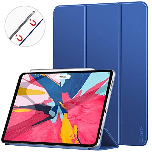 Ztotop Hülle für iPad pro 11 2018, Ultra dünn smart magnetische Abdeckung,Trifold Stand Schutzhülle mit Auto Aufwachen/Schlaf für iPad Pro 11 Zoll A1980 A1934 A2013 A1979,Blau